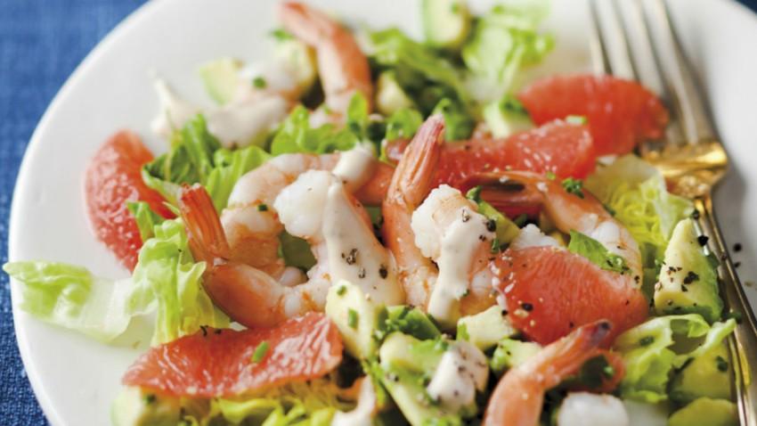 Salades de Crevettes et Pamplemousse